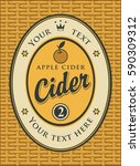 cider label in a frame on the... | Shutterstock .eps vector #590309312