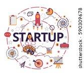 vector illustration of business ... | Shutterstock .eps vector #590309678