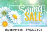 spring sale concept. summer... | Shutterstock .eps vector #590313608