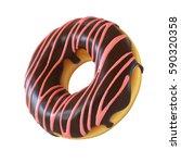 Chocolate Donut Or Doughnut 3d...