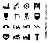 industrial icons set. set of 16 ... | Shutterstock .eps vector #590329652