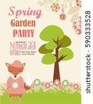 hello spring | Shutterstock .eps vector #590333528