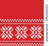 winter sweater design. fairisle ... | Shutterstock .eps vector #590334425