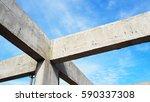 construction site concrete beam | Shutterstock . vector #590337308