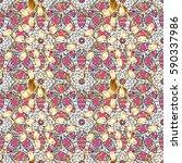 classic oriental background... | Shutterstock . vector #590337986