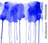 beautiful watercolor seamless... | Shutterstock . vector #590350088