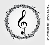 music  background  melody ... | Shutterstock . vector #590352752