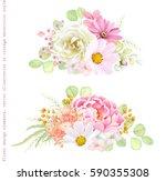 collection vector decorative... | Shutterstock .eps vector #590355308