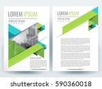 abstract vector modern flyers... | Shutterstock .eps vector #590360018