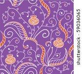 tile able floral pattern | Shutterstock .eps vector #59036065