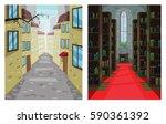 digital vector abstract... | Shutterstock .eps vector #590361392