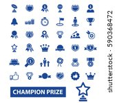 champion prize icons | Shutterstock .eps vector #590368472