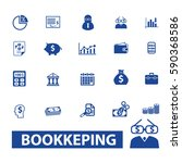 bookkeeping icons | Shutterstock .eps vector #590368586