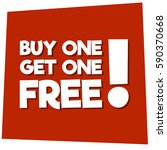 buy one get one free offer  | Shutterstock .eps vector #590370668