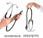 doctor's hands holding... | Shutterstock . vector #590378795