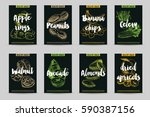 vector hand drawn healthy snack ... | Shutterstock .eps vector #590387156