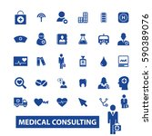 medical consulting icons | Shutterstock .eps vector #590389076