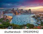 sydney. cityscape image of... | Shutterstock . vector #590390942