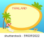 thailand touristic banner with... | Shutterstock .eps vector #590392022