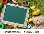 baby chalkboard. frame with a...   Shutterstock . vector #590392406