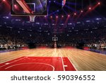 basketball court with people... | Shutterstock . vector #590396552