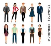 casual office people vector... | Shutterstock .eps vector #590398436