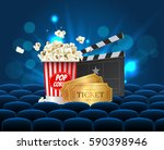 cyan cinema movie design poster ... | Shutterstock .eps vector #590398946