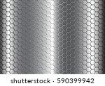 hexagonal honeycomb pattern... | Shutterstock .eps vector #590399942