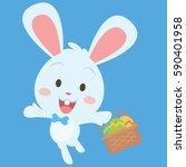 collection stock of easter egg... | Shutterstock .eps vector #590401958