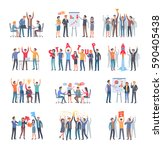 set of successful startup with... | Shutterstock .eps vector #590405438