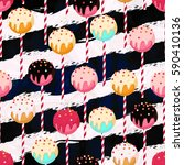 candy vector seamless pattern... | Shutterstock .eps vector #590410136
