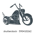 the black colored cool chopper...