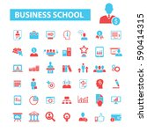 business school icons  | Shutterstock .eps vector #590414315