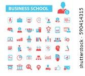 business school icons  | Shutterstock .eps vector #590414315