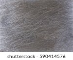 very scratched gray metal steel ... | Shutterstock . vector #590414576