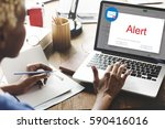 e mail popup warning window... | Shutterstock . vector #590416016