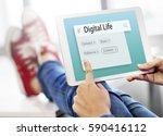 internet social platform network | Shutterstock . vector #590416112