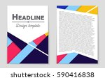 abstract vector layout... | Shutterstock .eps vector #590416838