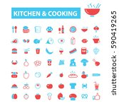 kitchen cooking icons  | Shutterstock .eps vector #590419265
