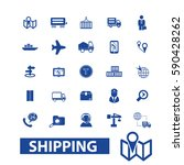 shipping icons | Shutterstock .eps vector #590428262