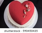 Cake In The Form Of A Red Hear...