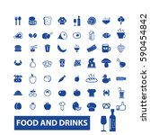food and drinks icons  | Shutterstock .eps vector #590454842