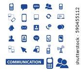 communication icons | Shutterstock .eps vector #590455112