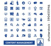 content management icons  | Shutterstock .eps vector #590455946