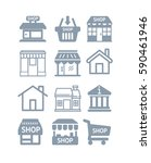 set icon house. eps 10  | Shutterstock .eps vector #590461946