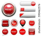 reset button  | Shutterstock .eps vector #590462576