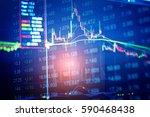 close up of finance business... | Shutterstock . vector #590468438