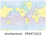 vector world map of all sea... | Shutterstock .eps vector #590471012