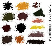 grunge paint vector. painted... | Shutterstock .eps vector #590472242