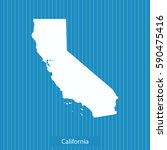 map of california | Shutterstock .eps vector #590475416